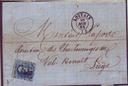 Lettre N°15 LP 226 LOUVAIN 16/11/1864 Vers LIEGE - 1863-1864 Medaglioni (13/16)