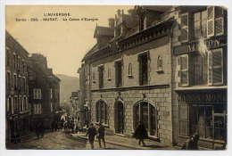 Cantal--MURAT--1915--La Caisse D'Epargne (très Animée) N° 208  éd MRIL--pas Très Courante-cachet Ambulant Murat à Arvant - Murat
