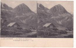14  LE  DAUPHINE.  -  Les  Remises  Du  Lautaret  Et  La  Pyramide  De  Laurichart.  -  LL. - Stereoscopische Kaarten