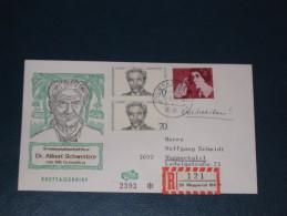 Deutschland Bund Einschreiben Einschreibezettel 1975 Wuppertal Albert Schweitzer Arzt Medizin Doktor Doctor Medzin - [7] Federal Republic