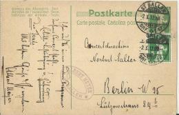 SWITZERLAND 1912 - CARTE POSTALE RARITY CLASSIC MUSIC FANS WRITTEN &AUTOGRAPHED   BY  ALBERT MEYER FAMOUS CONDUCTOR RARI - Autographes