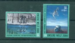 """Nations Unies Vienna 2000 - Michel N. 307/08 -  """"Planéte 2000"""" - Wien - Internationales Zentrum"""