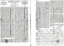 FAC-SIMILE / GAZETTE DES ABSENTS N° 3 TRANSPORTEE PAR LE BALLON FULTON LE 29 OCTOBRE 1870 - Historical Documents