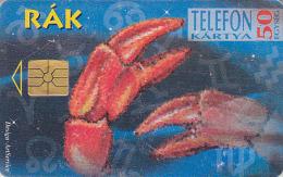 Télécarte à Puce HONGRIE - Zodiaque - CANCER / Scans Recto & Verso - Horoscope Chip Phonecard - KREBS Crabe Crab - 405 - Zodiaco