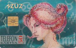 Télécarte à Puce HONGRIE - Zodiaque - VIERGE / Scans Recto & Verso - VIRGO Horoscope Chip Phonecard - JUNGFRAU - 407 - Zodiaque