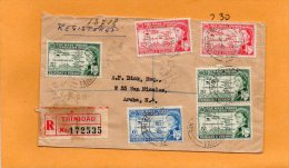Trinidad & Tobago 1959 Registered Cover Mailed To Aruba - Trinidad & Tobago (...-1961)