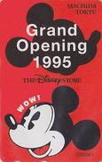 Télécarte NEUVE Japon / 110-171047 - DISNEY STORE GO - MICKEY ** MACHIDA 1995 ** - Japan MINT Phonecard / 5000 EX - Disney