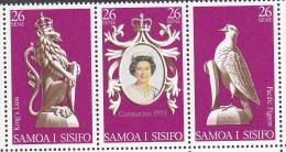 SAMOA, 1978 CORO ANNIV STRIP 3 MNH - Samoa