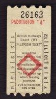 "Railway Platform Ticket London PADDINGTON ""A"" BRB(W) AA Paper - Railway"