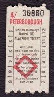 Railway Platform Ticket 4/ PETERBOROUGH BRB(E) AA Paper - Railway