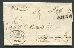1828  RARA PREFILATECA  DA  VOLTA MANTOVANA  X CASTIGLIONE DELLE STIVIERE  INTERESSANTE DOCUMENTO STORICO - 1. ...-1850 Prefilatelia