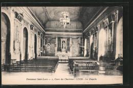 CPA Lyon, La Chapelle Du Pensionnat Saint-Louis Au Cours Des Chartreux - Autres