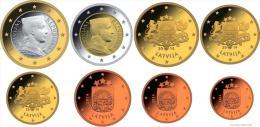 LATVIA FULL EURO SET 2014 8 COINS UNC - Lettonie
