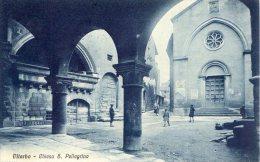 [DC6718] VITERBO - CHIESA DI S. PELLEGRINO - Viaggiata 1927 - Old Postcard - Viterbo