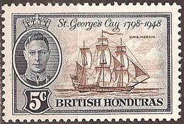 BRITISH HONDURAS..1949..Michel # 131...MLH. - British Honduras (...-1970)