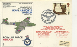 FLIGHT COVER - OPENING OF RAF MUSEUM 1972 - Transport