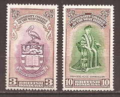 BRITISH HONDURAS..1951..Michel # 138-139...MLH. - British Honduras (...-1970)
