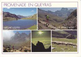Cp , 05 , LE QUEYRAS , Le Lac Lestio (2510 M.) , Le Mont Viso (3841 M.), Le Versant Italien , Le Refuge Balif-Viso - Non Classés
