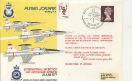 FLIGHT COVER - RAF GREENHAM COMMON AIT TATTOO 1977 - Transports