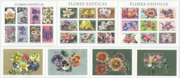 MOZAMBIQUE 1999 - Insects & Flowers 3 M/S + 4 S/S - Mi 1707-32 + B58-61, Sc 1382-8 - Insekten