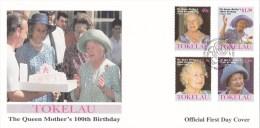 Tokelau 2001 Queen Mother's 100th Birthday FDC - Tokelau