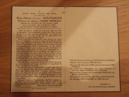 Doodsprentje Elza Marie Louise Houtsaeger Veurne 23/2/1868 - 3/2/1953 ( Hendrik Verstraete) - Religion & Esotérisme