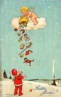 AK KÜNSTLERKARTEN  ENGEL Mit Wolken Schenkt GESCHENK  WEICHNACHTEN AMAG Nr.1721.OLD POSTCARD 1929 - Anges