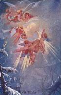 AK KÜNSTLERKARTEN  ENGEL Mit Wolken Schenkt GESCHENK  WEICHNACHTEN D.K.&Co. Nr.3020.OLD POSTCARD - Anges