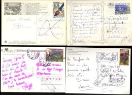 Lot De 14 Cp Avec Cachets NPAI Retour Envoyeur Quartiers 75 36 44 48 V32 Villeurbanne Bron Venissieux - Other