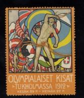 OLYMPIC  GAMES  STOCKHOLM  1912  IDIOM  LINGUA  FINLANDIA  SUOMI  ? ERINNOFILO  ERINNOPHILIE  CHIUDILETTERA   Envelope - Erinnofilia