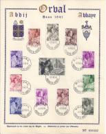 Belgie YT° 556-567 - Erinnerungskarten