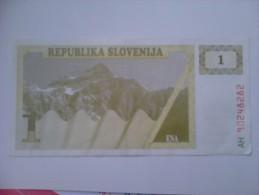 Billete Eslovenia. 1 T. 1990 - Slovénie