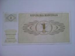 Billete Eslovenia. 1 T. 1990 - Eslovenia
