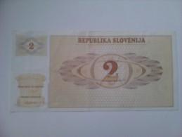 Billete Eslovenia. 2 T. 1990. - Eslovenia