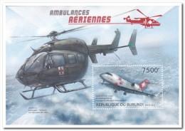 Burundi 2012 Postfris MNH, Red Cross, Helicopter - 2010-..: Ongebruikt