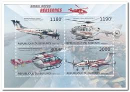 Burundi 2012 Postfris MNH, Red Cross, Helicopter - Burundi