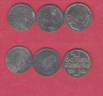 ALLEMAGNE //  Lot De 3 Monnaies De Nécéssitées  // - 10 Pfennig
