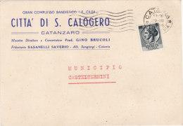 """SAN CALOGERO  /   Cartolina Pubblicitaria  """" Gran Complesso Bandistico - F. CILEA  """" _ Viaggiata - Catanzaro"""