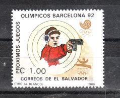 San Salvador   -   1988.  Tiro Con La Pistola. Pistol Shooting.  MNH - Tiro (armi)