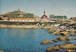 Greenland PPC Godthåb Hospital And Church Old Harbour (2 Scans) - Grönland