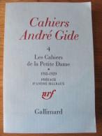 CAHIERS ANDRE GIDE 4 1976 LES CAHIERS DE LA PETITE DAME 1918 1929 PREFACE ANDRE MALRAUX NRF GALLIMARD - Livres, BD, Revues