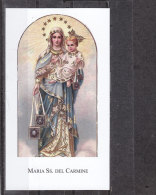 Maria SS. Del Carmine, Con Preghiera Al Retro - Casa Editrice PACO N. 276 - Devotieprenten