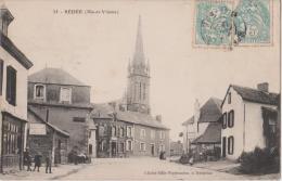 BEDEE  ( Ille  Et  Vilaine )  -  Vue  De  L´Eglise  -  Publicité Chocolat   Meunier  -  Personnages. - Other Municipalities