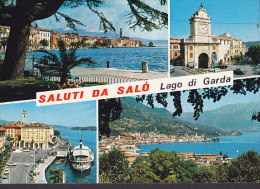 Italy PPC Saluti Da Salo Lago Di Garda (2 Scans) - Brescia