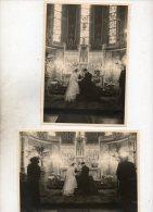GASTON EN  FERNANDE    DE MEULEMEESTER  1949  -   MERKSEM  -  12 OP 17 Sm GROOT - Photos