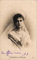 RUSSIA DYNASTIE  2 PC  Impératrice De Russie    Neé Alice De Hessen - Royal Families
