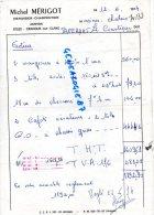 87 - JAVERDAT - MICHEL BERIGOT  MENUISIER CHARPENTIER - ORADOUR SUR GLANE   1974 - Factures & Documents Commerciaux