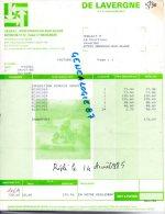 87 - VEYRAC - ORADOUR SUR GLANE - FACTURE DE LAVERGNE- 1985  AGRICOLE - Invoices & Commercial Documents