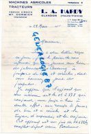 87 -  GLANDON - FACTURE L.A. HARDY - MACHINES AGRICOLES  TRACTEURS - MC CORMICK-1955 - Invoices & Commercial Documents