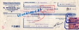 87 -  LA CROISILLE SUR BRIANCE - TRAITE COMMERCE- M. PENICAUD ANC. MAISON SAGE BRIVE- FABRIQUE CONSERVES 1953 - Invoices & Commercial Documents